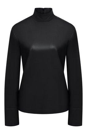 Женский кожаный топ JOSEPH черного цвета, арт. JF005100 | Фото 1