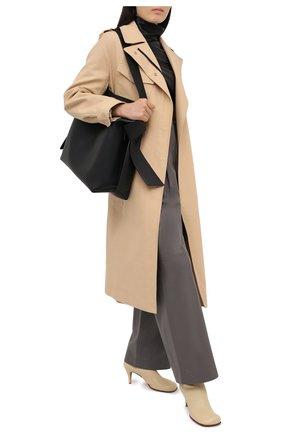 Женский кожаный топ JOSEPH черного цвета, арт. JF005100 | Фото 2