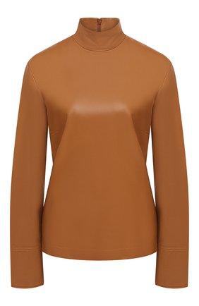 Женская кожаный топ JOSEPH коричневого цвета, арт. JF005100 | Фото 1