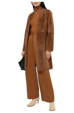 Женская кожаный топ JOSEPH коричневого цвета, арт. JF005100 | Фото 2
