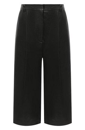 Женские кожаные шорты JOSEPH черного цвета, арт. JF005105 | Фото 1