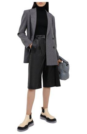 Женские кожаные шорты JOSEPH черного цвета, арт. JF005105 | Фото 2