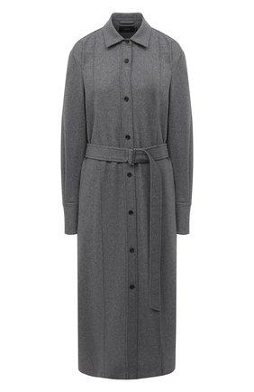 Женское платье из шерсти и шелка JOSEPH серого цвета, арт. JF005111 | Фото 1