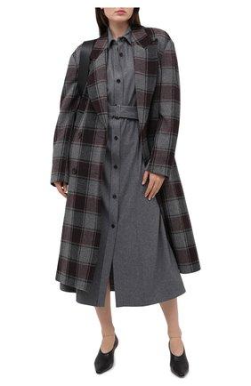Женское платье из шерсти и шелка JOSEPH серого цвета, арт. JF005111 | Фото 2