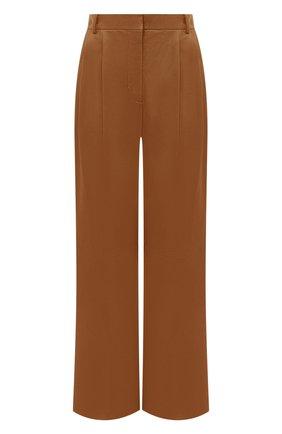 Женские кожаные брюки JOSEPH коричневого цвета, арт. JF005121 | Фото 1