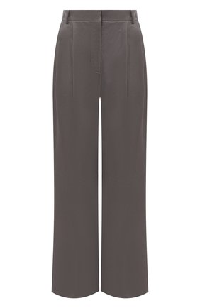 Женские кожаные брюки JOSEPH серого цвета, арт. JF005121 | Фото 1