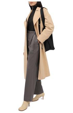 Женские кожаные брюки JOSEPH серого цвета, арт. JF005121 | Фото 2