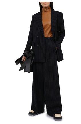 Женские шерстяные брюки JOSEPH темно-синего цвета, арт. JP001045 | Фото 2