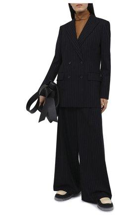 Женский шерстяной жакет JOSEPH темно-синего цвета, арт. JP001061 | Фото 2