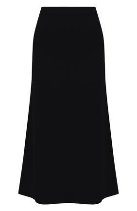 Женская шерстяная юбка TOTÊME черного цвета, арт. SERPA 204-353-756   Фото 1