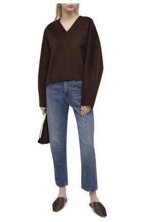 Женский пуловер из шерсти и кашемира TOTÊME темно-коричневого цвета, арт. RENNES 204-727-717 | Фото 2