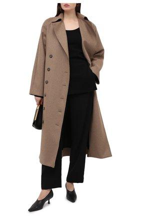 Женские брюки TOTÊME черного цвета, арт. P0NT0L0 203-226-715 | Фото 2