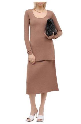Женский шерстяной пуловер TOTÊME коричневого цвета, арт. M0R0 204-552-756 | Фото 2
