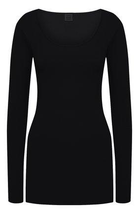 Женский шерстяной пуловер TOTÊME черного цвета, арт. M0R0 204-552-756 | Фото 1