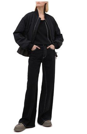 Женская хлопковый лонгслив Y`S черного цвета, арт. YB-T13-674 | Фото 2