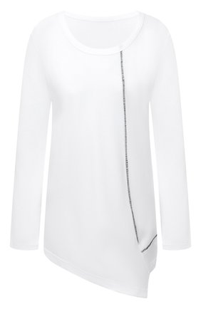 Женская хлопковый лонгслив Y`S белого цвета, арт. YB-T13-674 | Фото 1