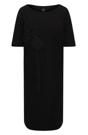 Женское хлопковое платье Y`S черного цвета, арт. YB-T11-673 | Фото 1