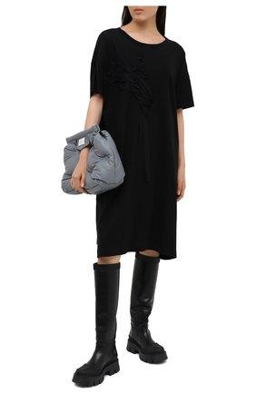 Женское хлопковое платье Y`S черного цвета, арт. YB-T11-673 | Фото 2