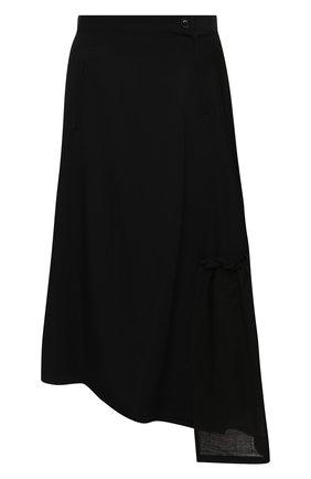 Женская шерстяная юбка Y`S черного цвета, арт. YB-S02-100 | Фото 1