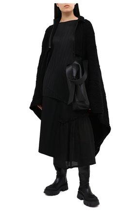 Женская шерстяная юбка Y`S черного цвета, арт. YB-S02-100 | Фото 2