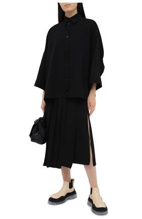 Женская рубашка Y`S черного цвета, арт. YB-B03-030 | Фото 2