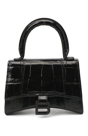 Женская сумка hourglass b mini BALENCIAGA черного цвета, арт. 637372/1LR67 | Фото 1