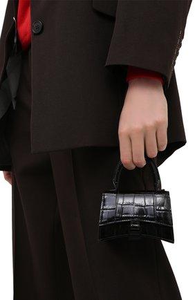 Женская сумка hourglass b mini BALENCIAGA черного цвета, арт. 637372/1LR67 | Фото 2