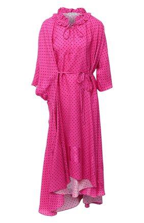 Женское платье из вискозы BALENCIAGA фуксия цвета, арт. 642287/TJLB4 | Фото 1