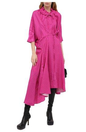 Женское платье из вискозы BALENCIAGA фуксия цвета, арт. 642287/TJLB4 | Фото 2