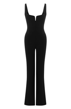 Женский комбинезон GALVAN LONDON черного цвета, арт. 100C0PS2000 | Фото 1
