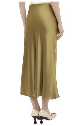 Женская юбка GALVAN LONDON золотого цвета, арт. 120SGSK4000   Фото 4 (Материал внешний: Синтетический материал; Женское Кросс-КТ: Юбка-одежда; Длина Ж (юбки, платья, шорты): Миди)