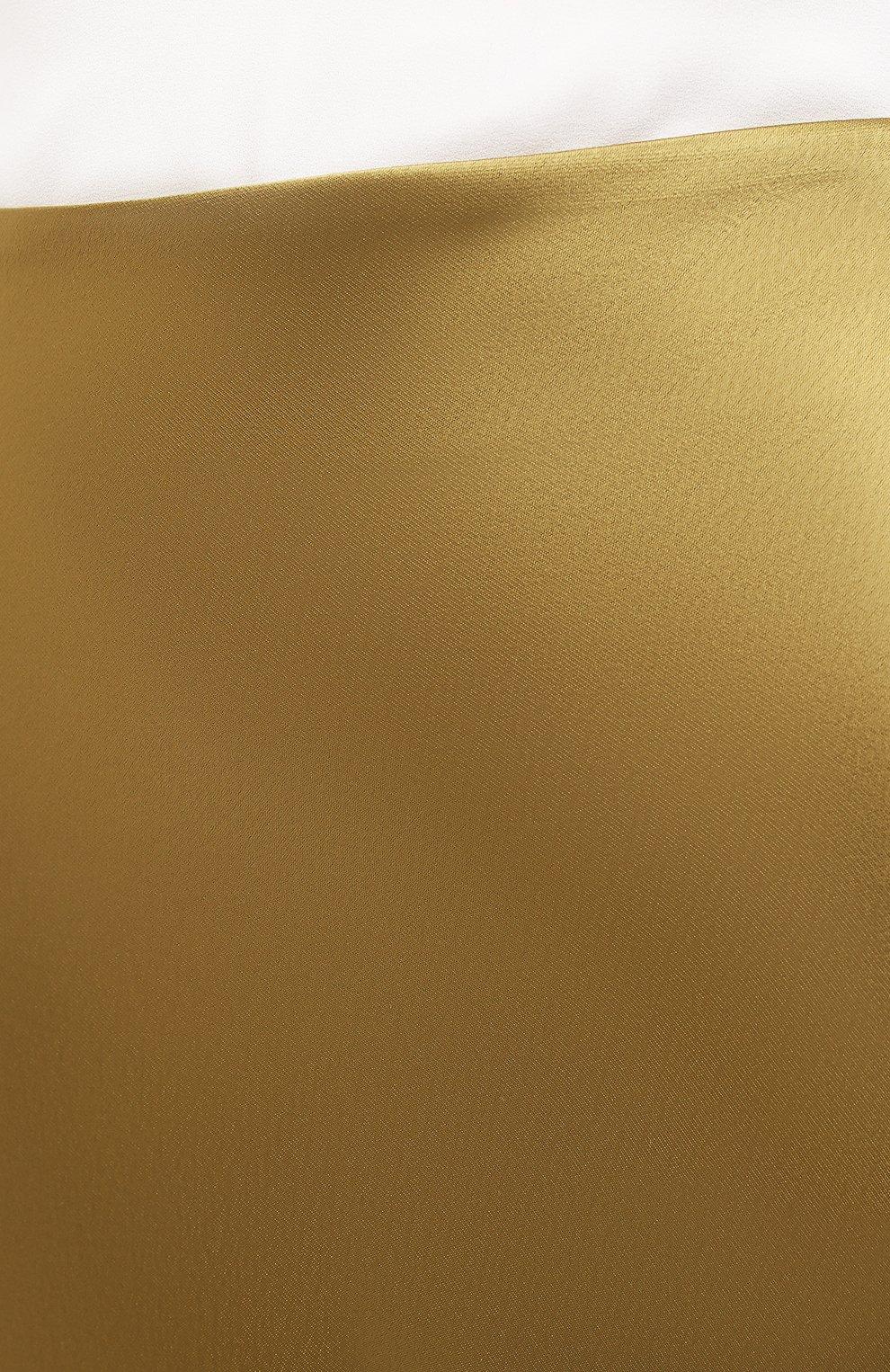 Женская юбка GALVAN LONDON золотого цвета, арт. 120SGSK4000   Фото 5 (Материал внешний: Синтетический материал; Женское Кросс-КТ: Юбка-одежда; Длина Ж (юбки, платья, шорты): Миди)
