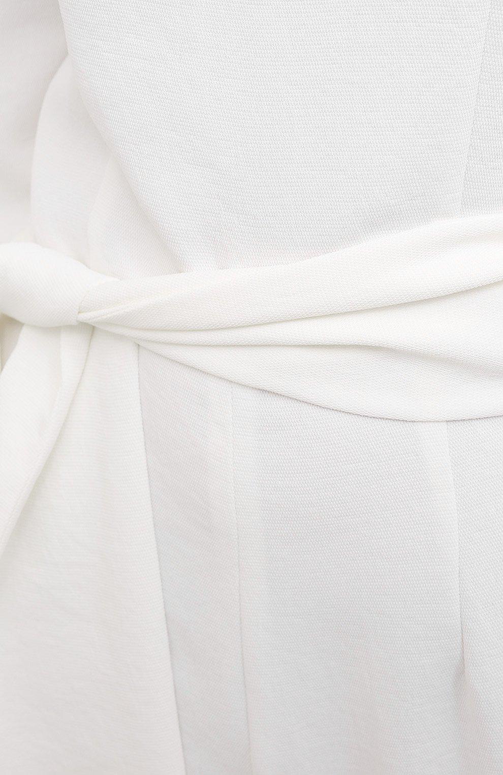 Женский комбинезон GALVAN LONDON белого цвета, арт. 220SEPS2040   Фото 5 (Длина (брюки, джинсы): Удлиненные; Рукава: Длинные; Случай: Повседневный; Материал внешний: Синтетический материал; Стили: Романтичный, Кэжуэл; Женское Кросс-КТ: Комбинезон-одежда)