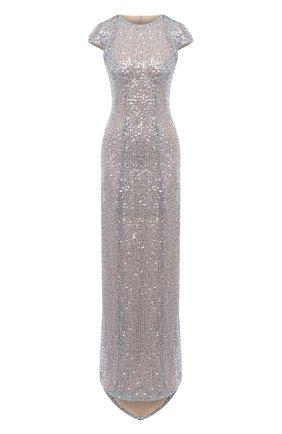 Женское платье с пайетками GALVAN LONDON серебряного цвета, арт. 220SGDR0012 | Фото 1