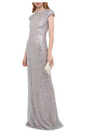 Женское платье с пайетками GALVAN LONDON серебряного цвета, арт. 220SGDR0012 | Фото 2