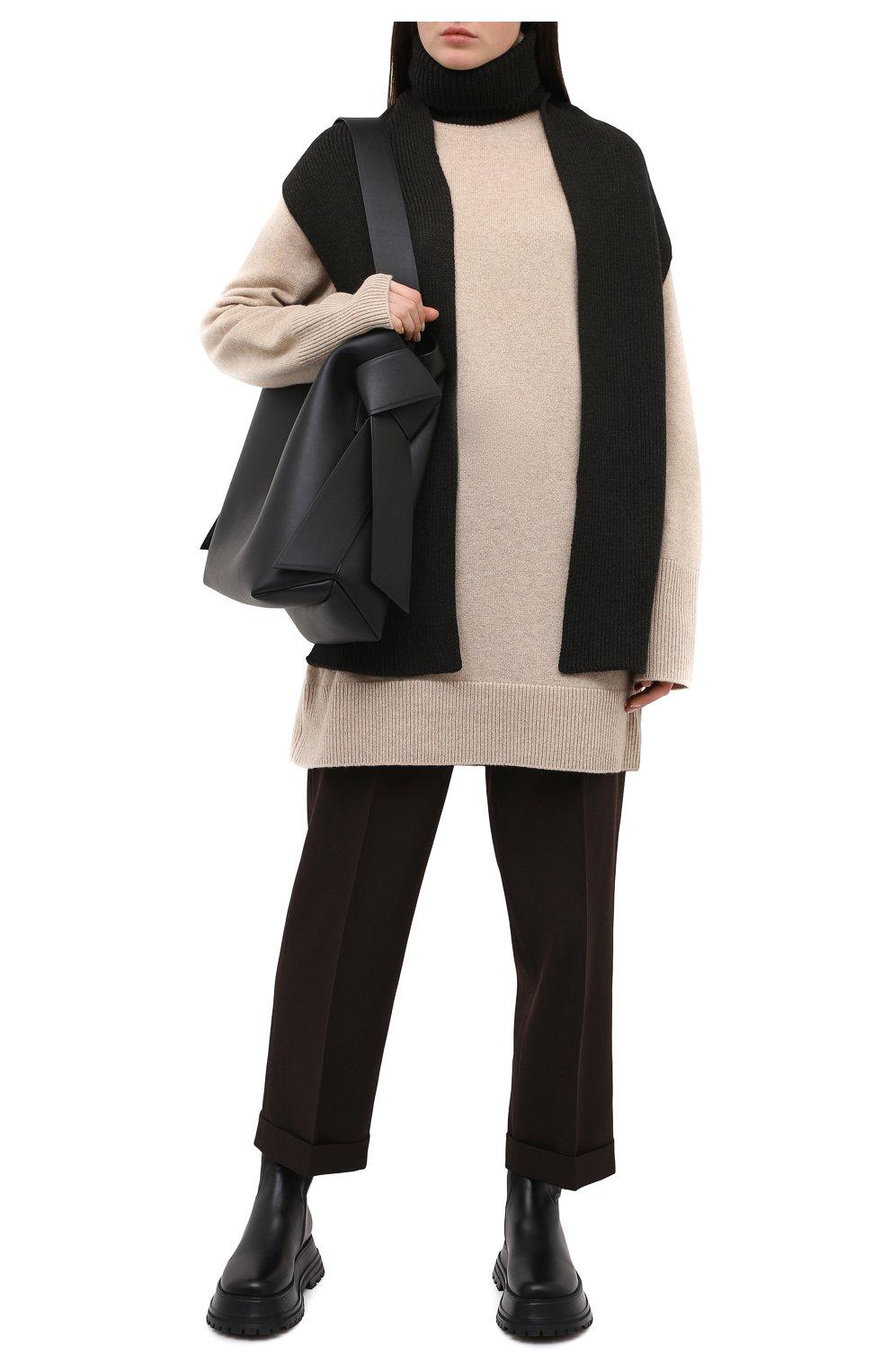 Женский шерстяной воротник ALEXANDRA GOLOVANOFF серого цвета, арт. C0L ECHARPE | Фото 2 (Материал: Шерсть)