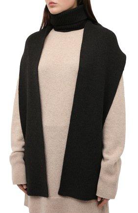 Женский шерстяной воротник ALEXANDRA GOLOVANOFF серого цвета, арт. C0L ECHARPE | Фото 3 (Материал: Шерсть)