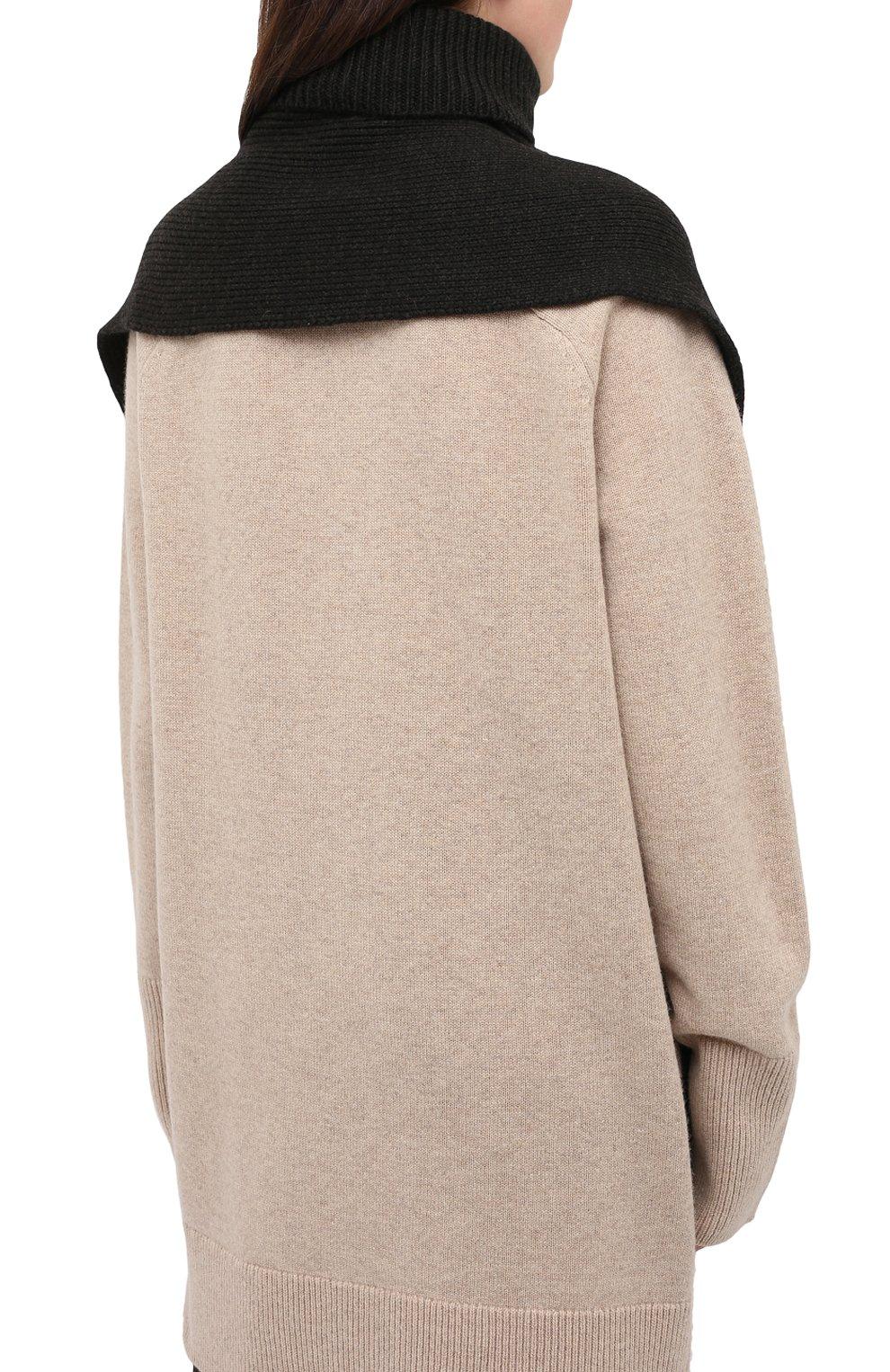 Женский шерстяной воротник ALEXANDRA GOLOVANOFF серого цвета, арт. C0L ECHARPE | Фото 4 (Материал: Шерсть)