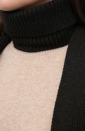 Женский шерстяной воротник ALEXANDRA GOLOVANOFF серого цвета, арт. C0L ECHARPE | Фото 5 (Материал: Шерсть)