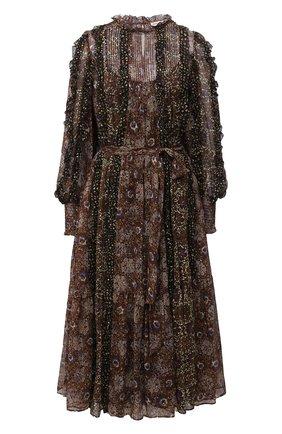 Женское шелковое платье ULLA JOHNSON черного цвета, арт. FA200114 | Фото 1