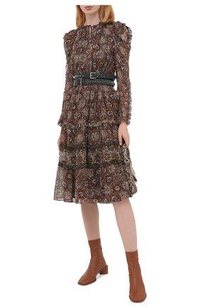 Женское шелковое платье ULLA JOHNSON черного цвета, арт. FA200124 | Фото 2