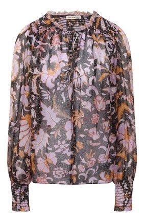 Женская шелковая блузка ULLA JOHNSON разноцветного цвета, арт. PF200202 | Фото 1
