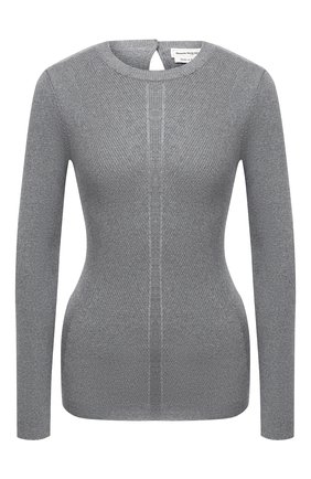 Женский шерстяной пуловер ALEXANDER MCQUEEN серого цвета, арт. 634259/Q1AQL   Фото 1