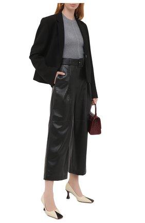 Женский шерстяной пуловер ALEXANDER MCQUEEN серого цвета, арт. 634259/Q1AQL   Фото 2