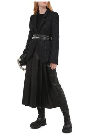 Женский шерстяной пуловер ALEXANDER MCQUEEN черного цвета, арт. 634259/Q1AQL   Фото 2