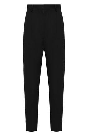 Женские шерстяные брюки ALEXANDER MCQUEEN черного цвета, арт. 585118/QJAAC | Фото 1