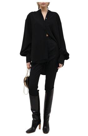 Женские шерстяные брюки ALEXANDER MCQUEEN черного цвета, арт. 585118/QJAAC | Фото 2