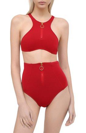 Женский плавки-бикини STELLA MCCARTNEY красного цвета, арт. S7B240950 | Фото 2