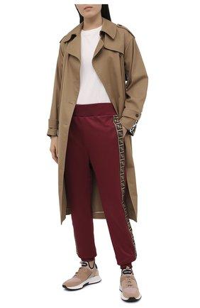 Женские комбинированные кроссовки jago TOM FORD светло-бежевого цвета, арт. W2818N-T0F005 | Фото 2 (Материал внутренний: Натуральная кожа, Текстиль; Подошва: Платформа; Материал внешний: Текстиль)