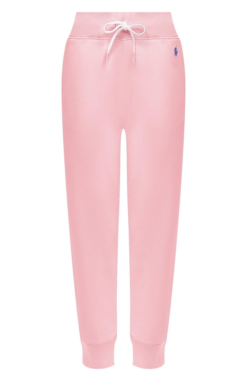 Женские хлопковые джоггеры POLO RALPH LAUREN светло-розового цвета, арт. 211794397   Фото 1